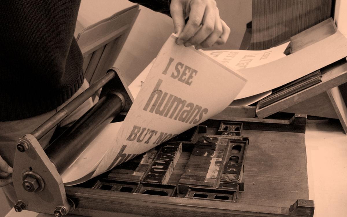 proceso de impresión tradicional